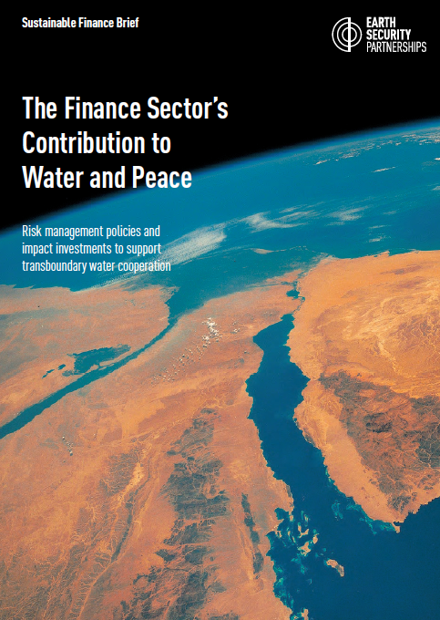 The finance sector's contribution to water and peace